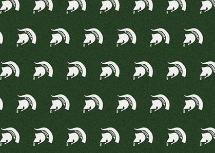 "Michigan State 7'8 x 10'9"" Premium Pattern Rug"