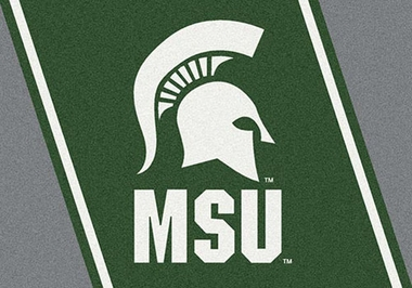 "Michigan State 7'8"" x 10'9"" Premium Spirit Rug"