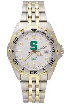 Michigan State All Star Mens (Steel Band) Watch
