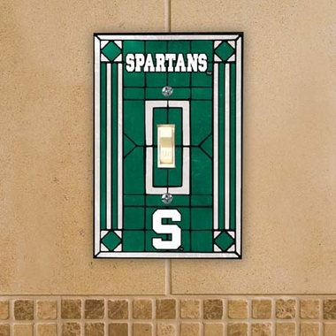 Michigan State Art Glass Lightswitch Cover