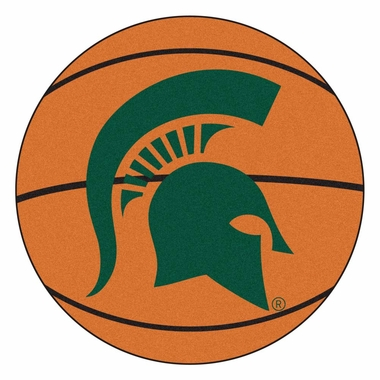 Michigan State 27 Inch Basketball Shaped Rug