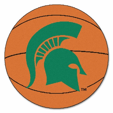 Michigan State Basketball Shaped Rug