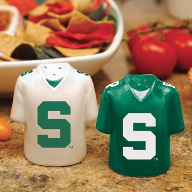 Michigan State Ceramic Jersey Salt and Pepper Shakers