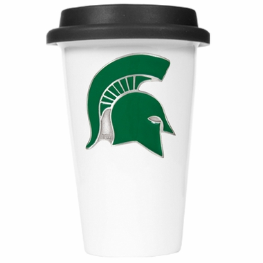 Michigan State Ceramic Travel Cup (Black Lid)