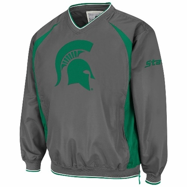 Michigan State Charcoal Hardball Pullover Jacket