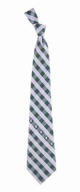 Michigan State Check Poly Necktie
