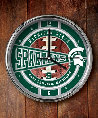 Michigan State Chrome Clock