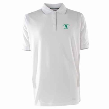 Michigan State Mens Elite Polo Shirt (Color: White)