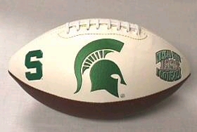 Michigan State Embroidered Foto Football