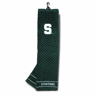 Michigan State Embroidered Golf Towel