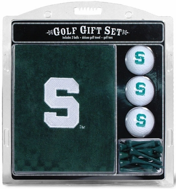 Michigan State Embroidered Towel Gift Set