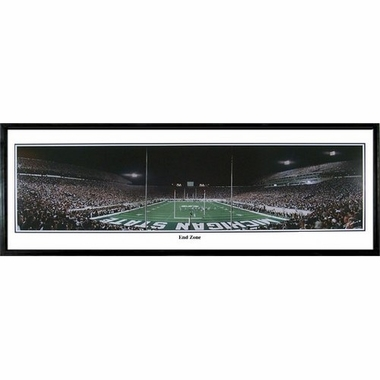 Michigan State End Zone Framed Panoramic Print