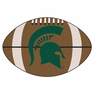 Michigan State Football Shaped Rug