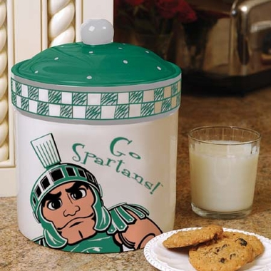 Michigan State Gameday Ceramic Cookie Jar