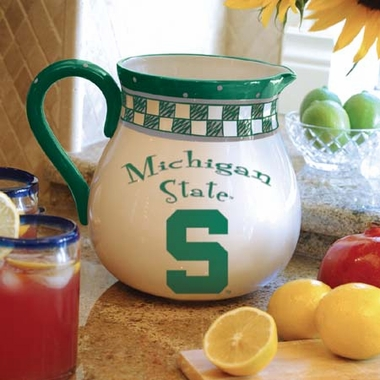 Michigan State Gameday Ceramic Pitcher