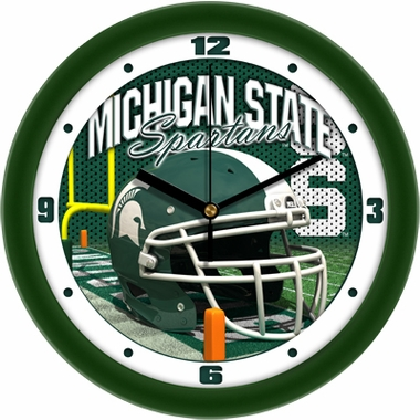Michigan State Helmet Wall Clock