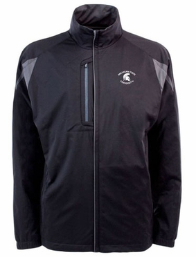 Michigan State Mens Highland Water Resistant Jacket (Team Color: Black)