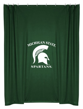 Michigan State Jersey Material Shower Curtain