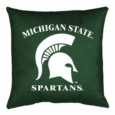 Michigan State Jersey Material Toss Pillow