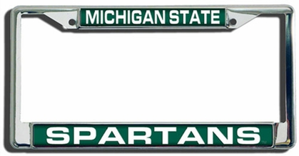 Michigan State Laser Etched Chrome License Plate Frame