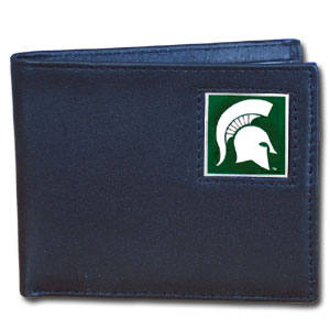 Michigan State Leather Bifold Wallet