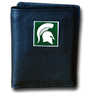 Michigan State Leather Trifold Wallet (F)
