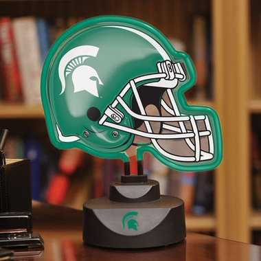 Michigan State Neon Display Helmet