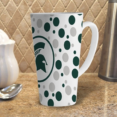 Michigan State Polkadot 16 oz. Ceramic Latte Mug