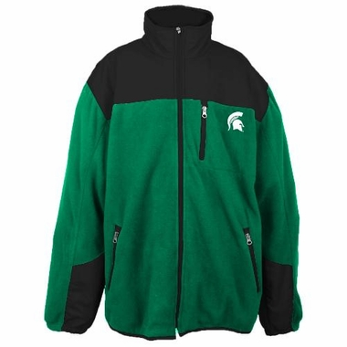 Michigan State Poly Dobby Full Zip Polar Fleece Jacket