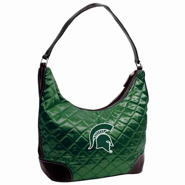 Michigan State Quilted Hobo Purse
