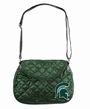 Michigan State Quilted Saddlebag
