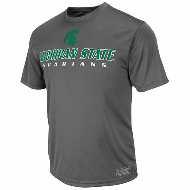 Michigan State Rush Short Sleeve Performance Shirt (Charcoal)