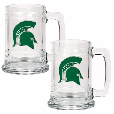 Michigan State Set of 2 15 oz. Tankards