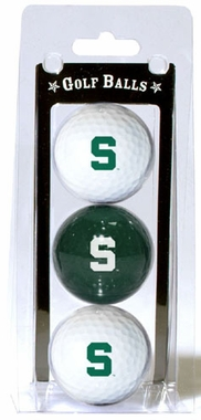 Michigan State Set of 3 Multicolor Golf Balls