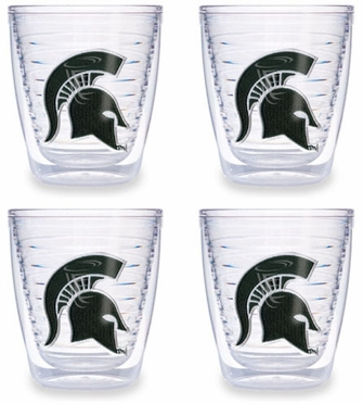 Michigan State Set of FOUR 12 oz. Tervis Tumblers