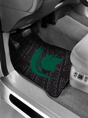 Michigan State Set of Rubber Floor Mats