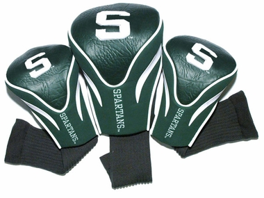 Michigan State Set of Three Contour Headcovers