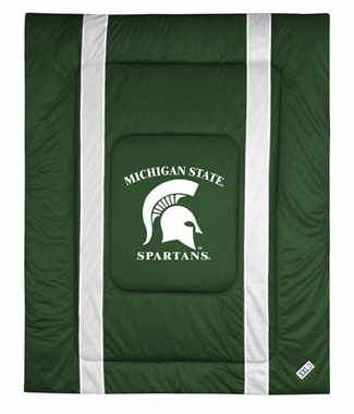 Michigan State SIDELINES Jersey Material Comforter