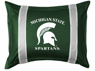 Michigan State SIDELINES Jersey Material Pillow Sham
