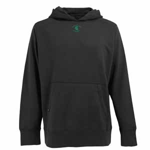 Michigan State Mens Signature Hooded Sweatshirt (Color: Black) - Small