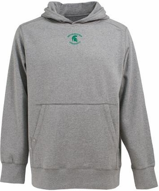 Michigan State Mens Signature Hooded Sweatshirt (Color: Gray)
