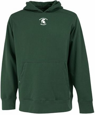 Michigan State Mens Signature Hooded Sweatshirt (Team Color: Green)