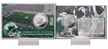 "Michigan State Spartans Michigan State University ""6-Time National Champions"" Minted Coin Card"