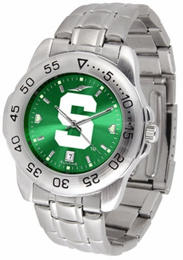 Michigan State Sport Anonized Men's Steel Band Watch
