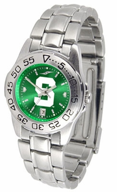 Michigan State Sport Anonized Women's Steel Band Watch