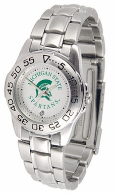 Michigan State Sport Women's Steel Band Watch