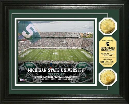 Michigan State Spartans Michigan State University Stadium Gold Coin Photo Mint