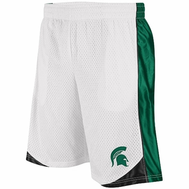 Michigan State Vector Performance Shorts (White)