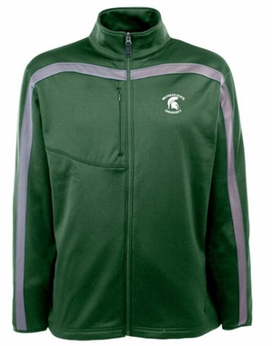 Michigan State Mens Viper Full Zip Performance Jacket (Team Color: Green)