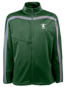 Michigan State Mens Viper Full Zip Performance Jacket (Team Color: Green) - Large